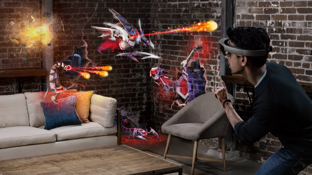 VR-Brille Microsoft HoloLens in Aktion