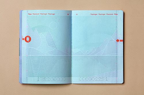 Neur Norwegischer Pass aufgeschlagen