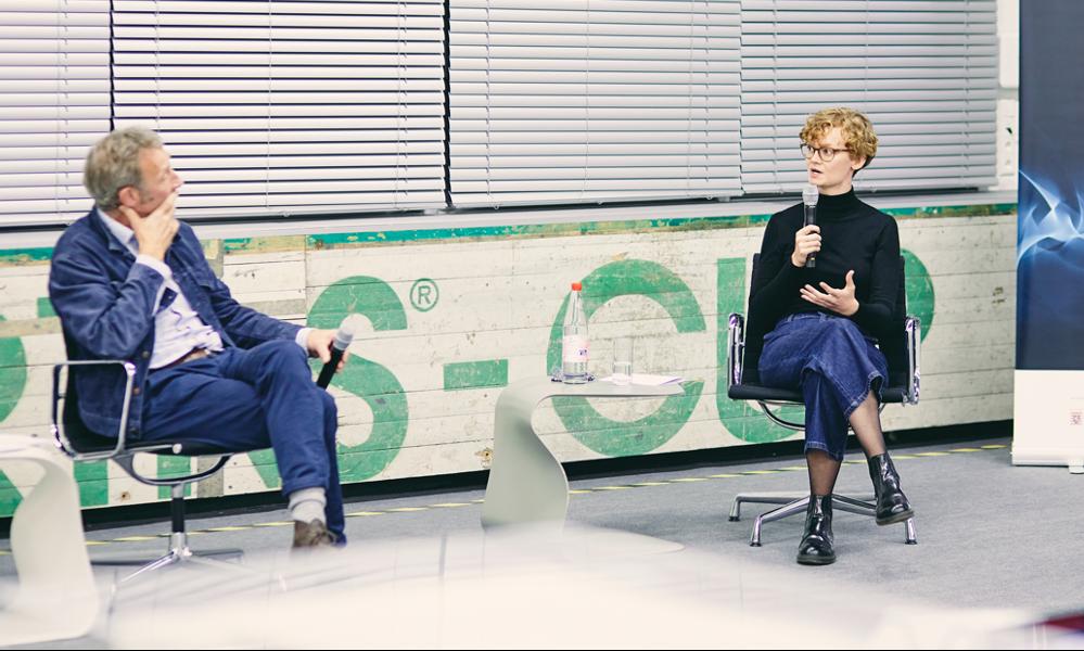 Design Talk 2, 2020. Stephan Ott und Carina Haumering, © Christof Jakob