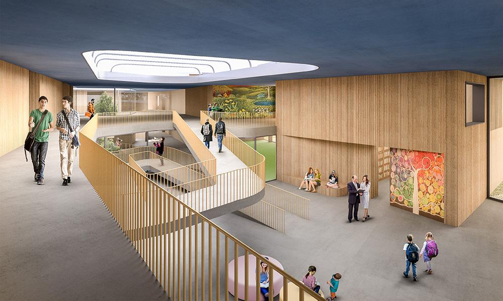 Waldorfschule in Weilheim als Beispiel für Soziale Architektur in der Bildung