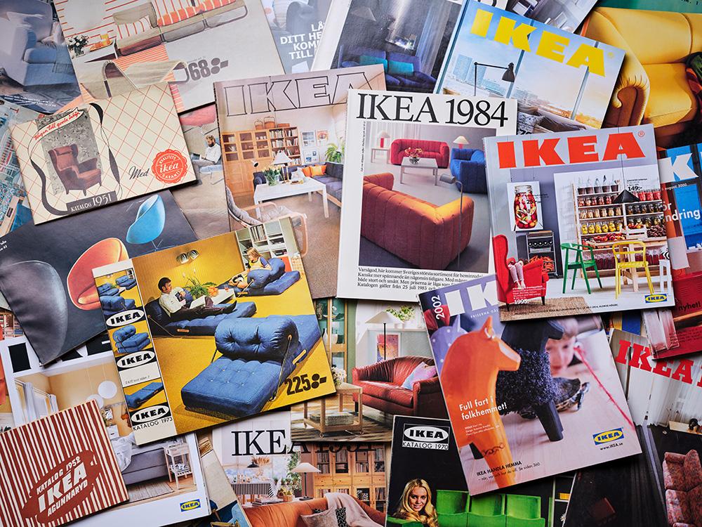 Der IKEA Katalog im Wander der Zeit