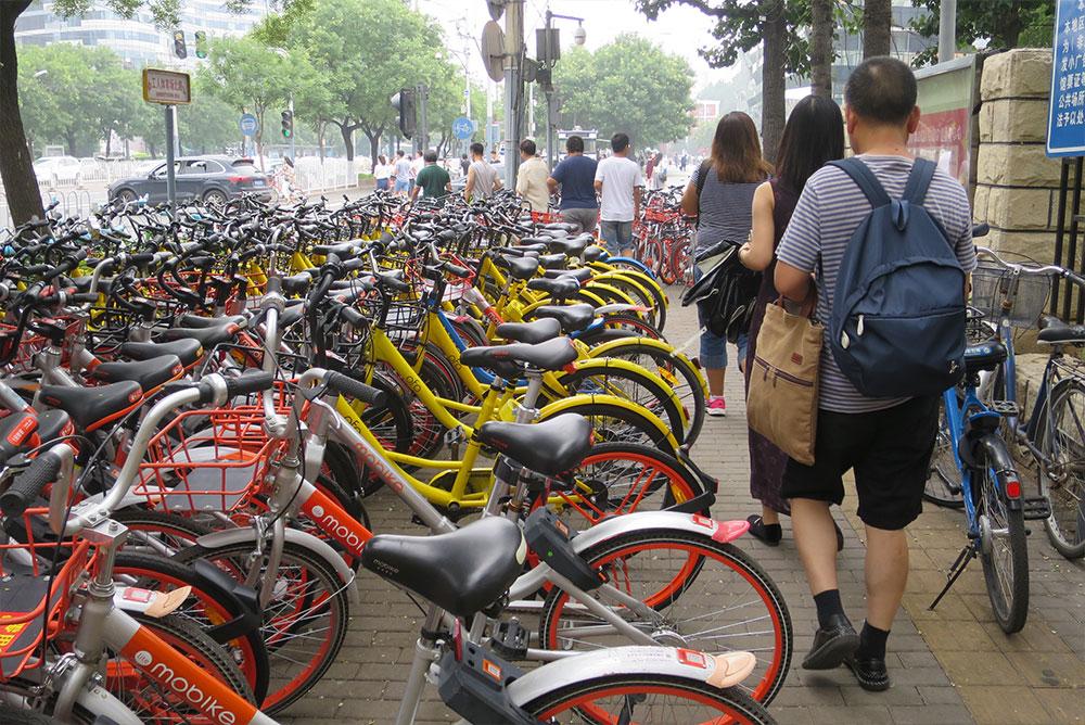 Leihfahrräder in Beijing