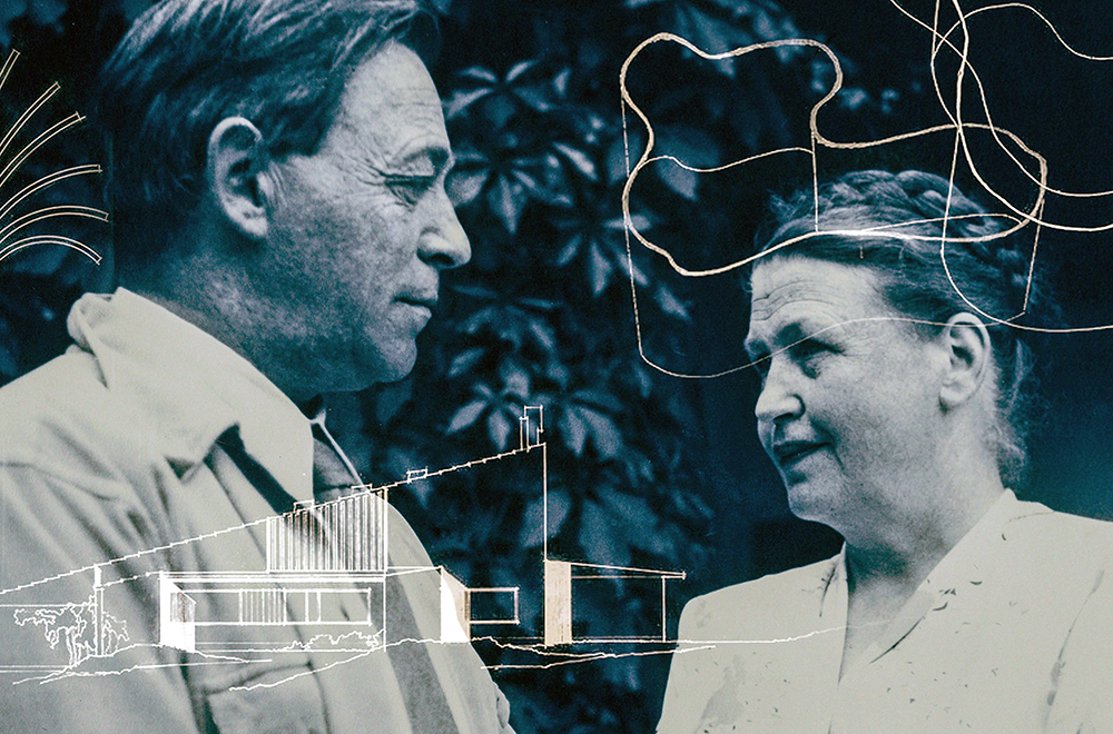 Alvar Aalto with his first wife Aino