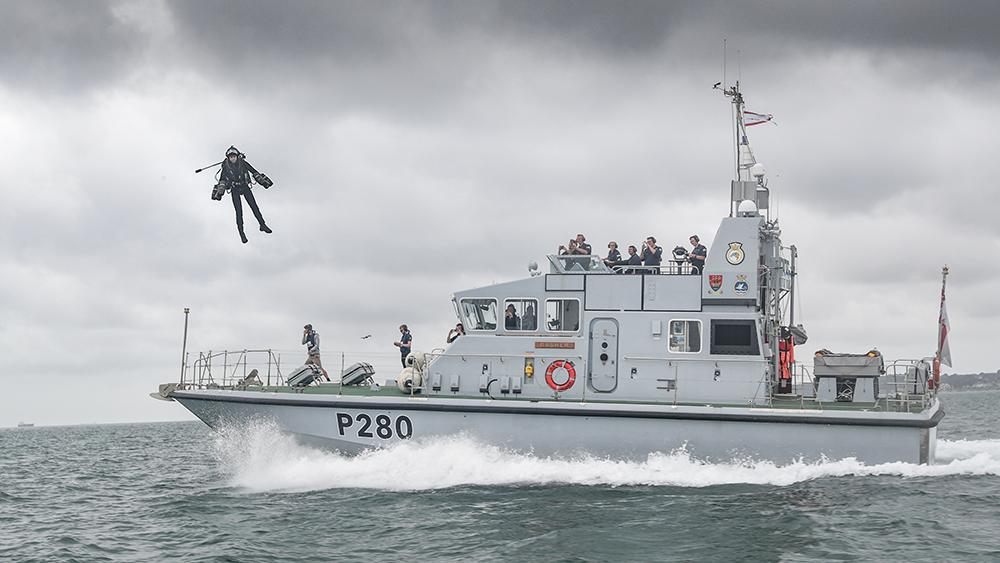 Jet Suit Naval Boarding