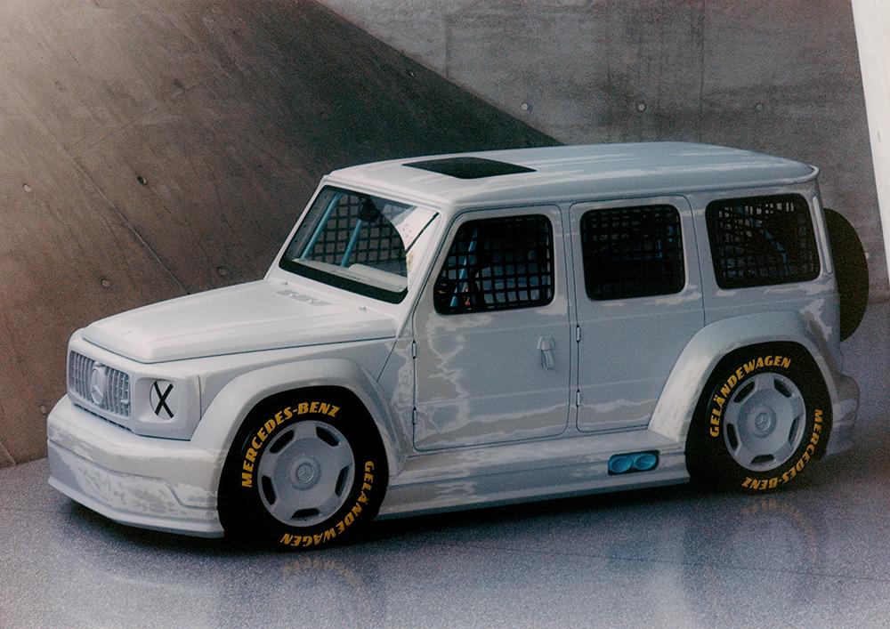 Modell von Daimers und Virgil Ablohs Geländewagen
