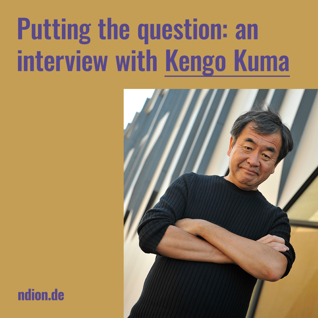 interview with Architect of the Year 2020 Kengo Kuma
