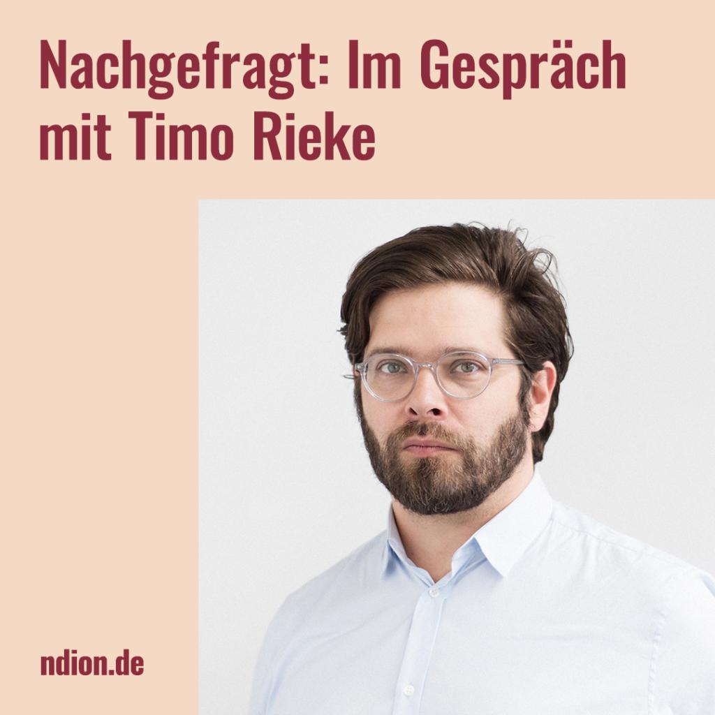 Prof. Timo Rieke im Interview