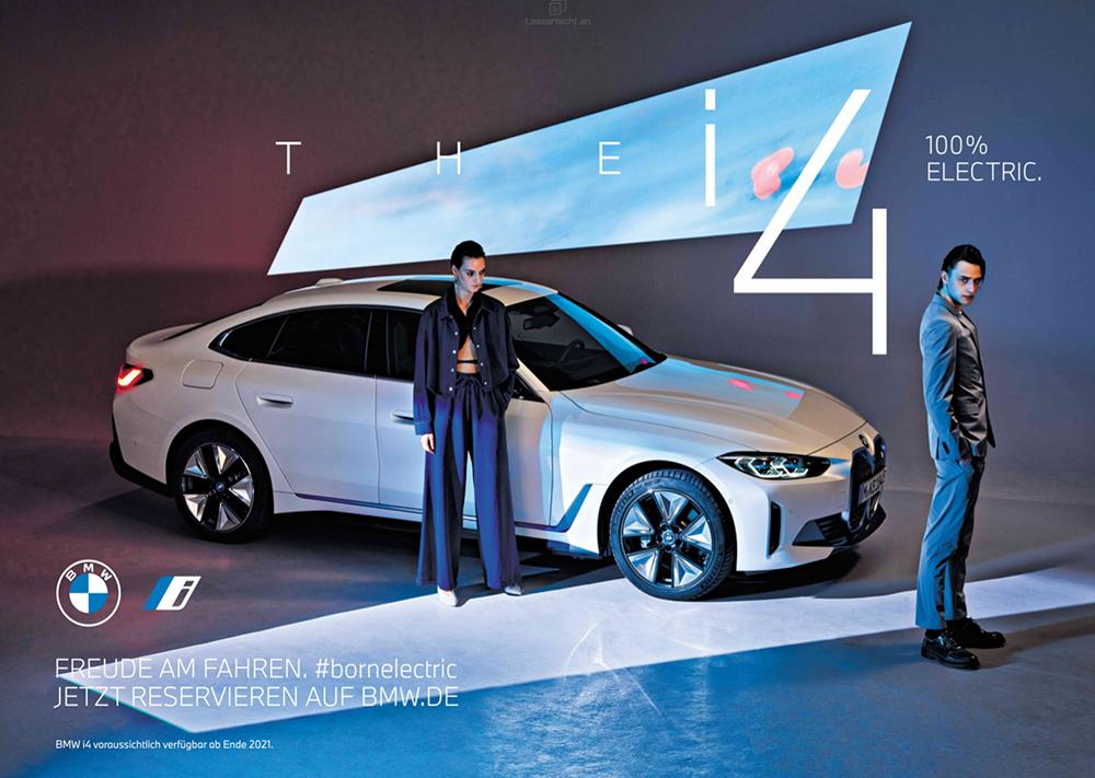BMW i4 Printwerbung