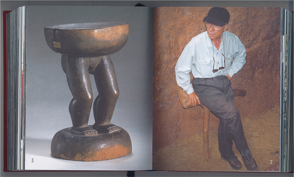 Rolf Fehlbaum tries out a stool