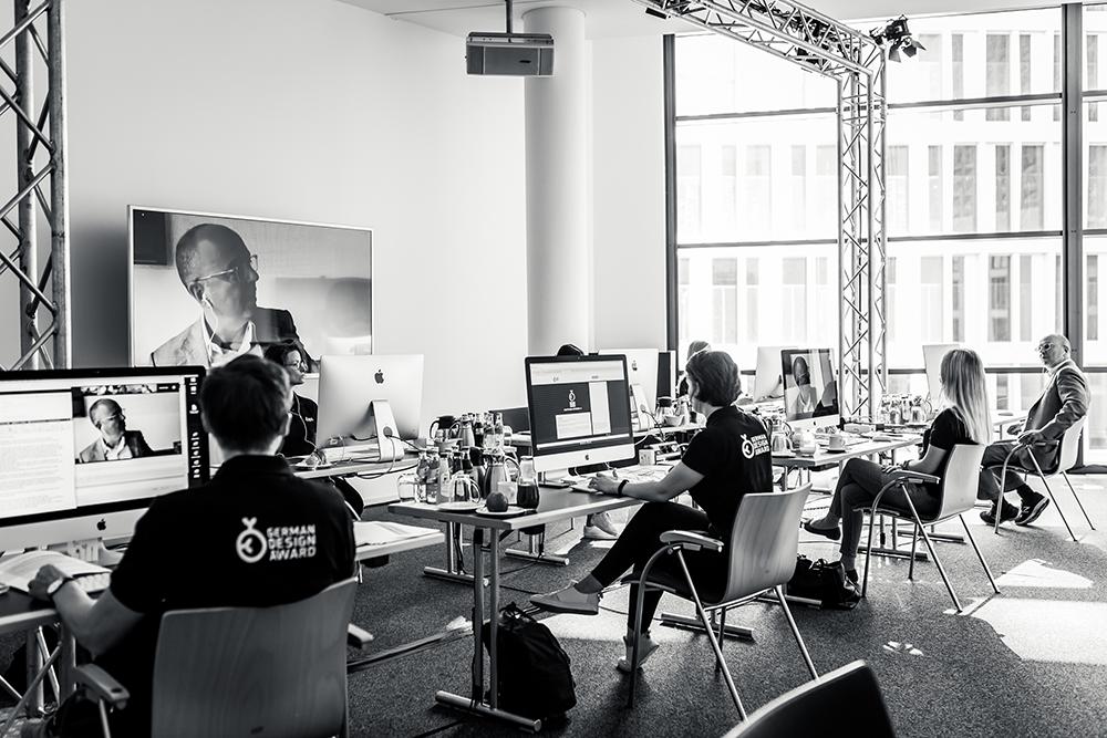 Digitale Jurysitzung des German Design Award 2021