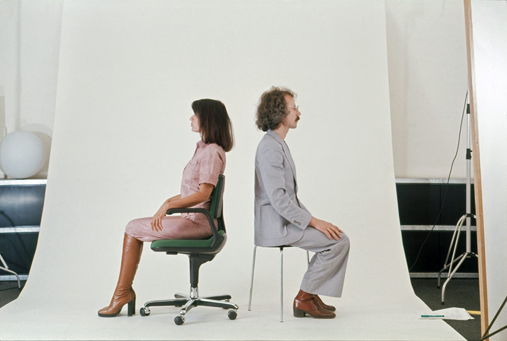 Rolf Fehlbaum and Vitramat in the studio (ca. 1976)