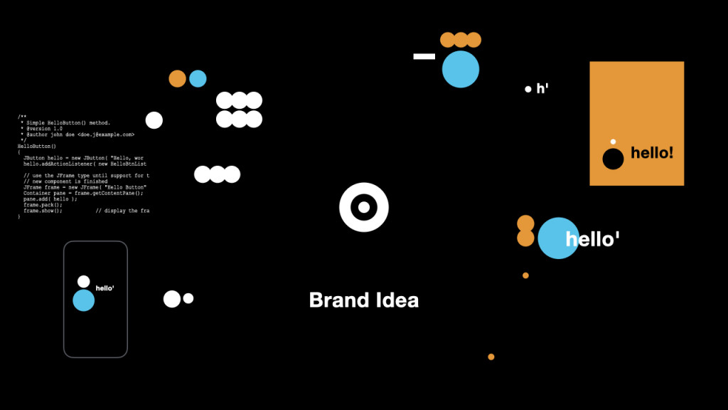 Focus on the brand idea and few visual brand codes