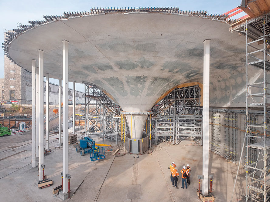 BIM was used to help plan the complex construction of the chalice supports in Stuttgart's new railway station.