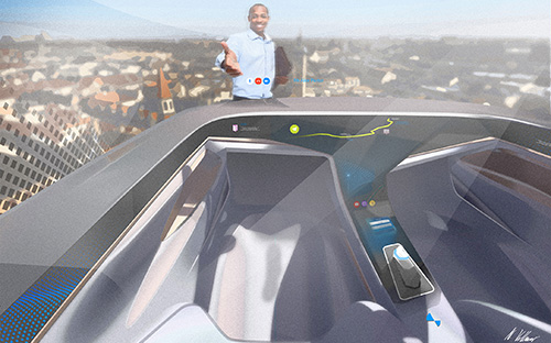 The cabin in the air taxi of the future, © Fraunhofer IAO