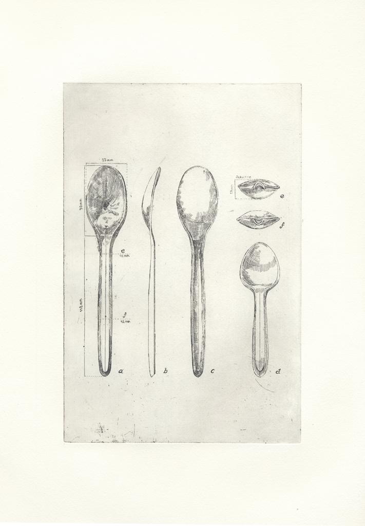 Spoon Archaeology Grafik von Liun Kim