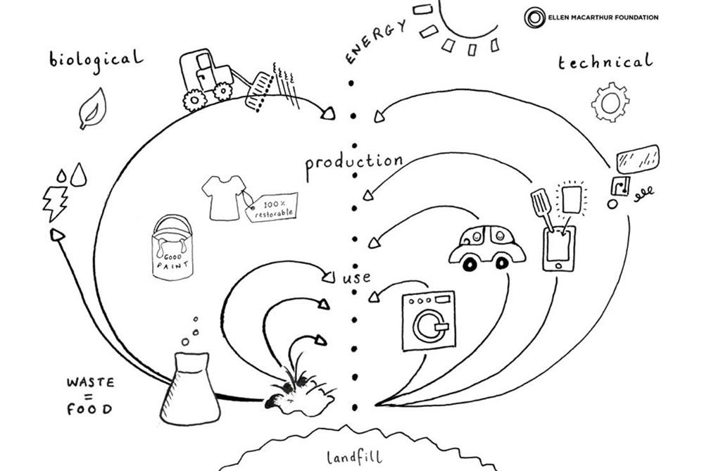 Circular Ecomony: Schema der Kreislaufwirtschaft