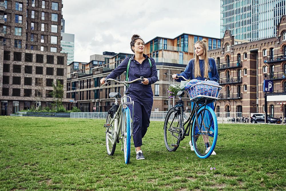 Verbrauch senken ist auch Circular Economy: Swapfiets-Fahrräder kauft man nicht, sondern leiht sie