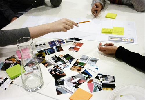 Das Team von Designit bei der kreativen Arbeit