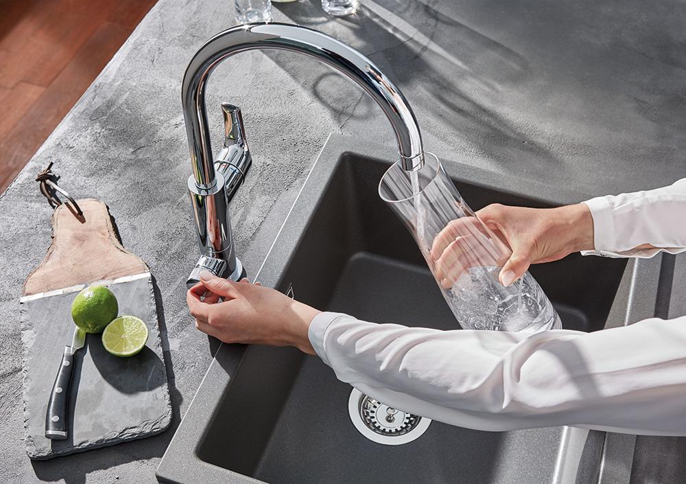 Nachhaltiges Produktdesign: Wassersystem GROHE Blue Pure