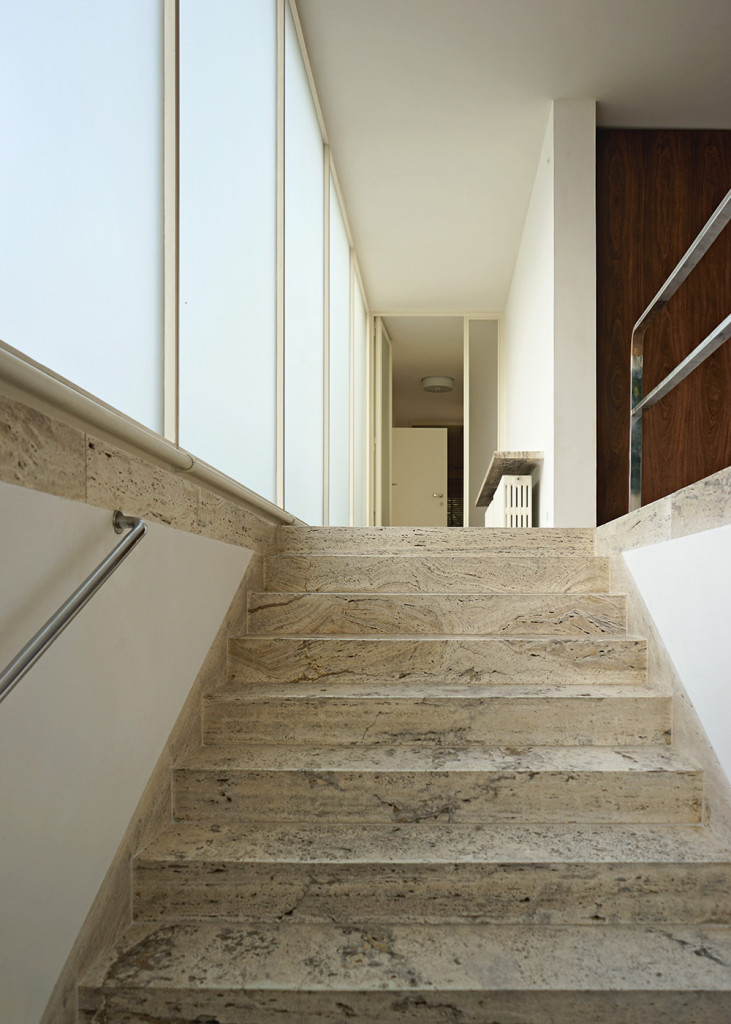 Mies van der Rohe. Treppe Villa Tugendhat.