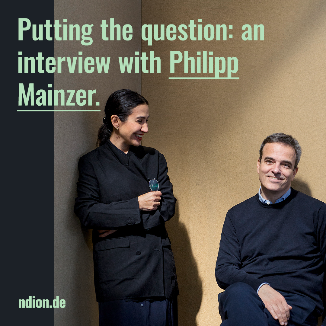 Putting the question: an interview with Philipp Mainzer