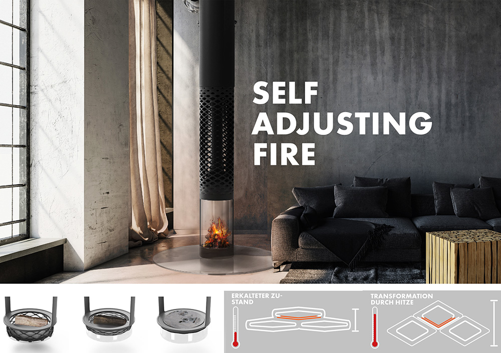 """3D Pioneers Challenge 2021 Winner Design"" // Best student: Self adjusting fire"
