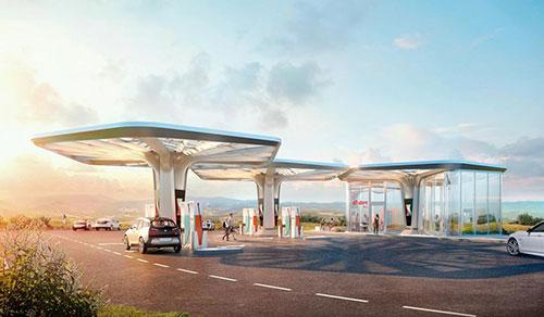 E.ON und Graft Architects haben eine modulare Ladestation vorgestellt.