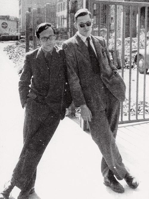 Gerd A. Müller und Dieter Rams um 1950
