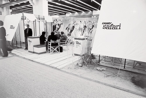 Gestaltung des LAMY-safari-Messestands auf der Frankfurter Messe