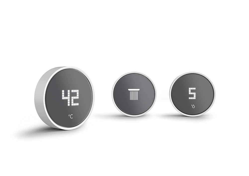 RainButton gives users complete freedom in bathroom design.