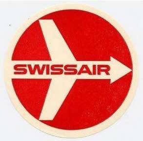 Swissair Logo der 50er bis 70er Jahre