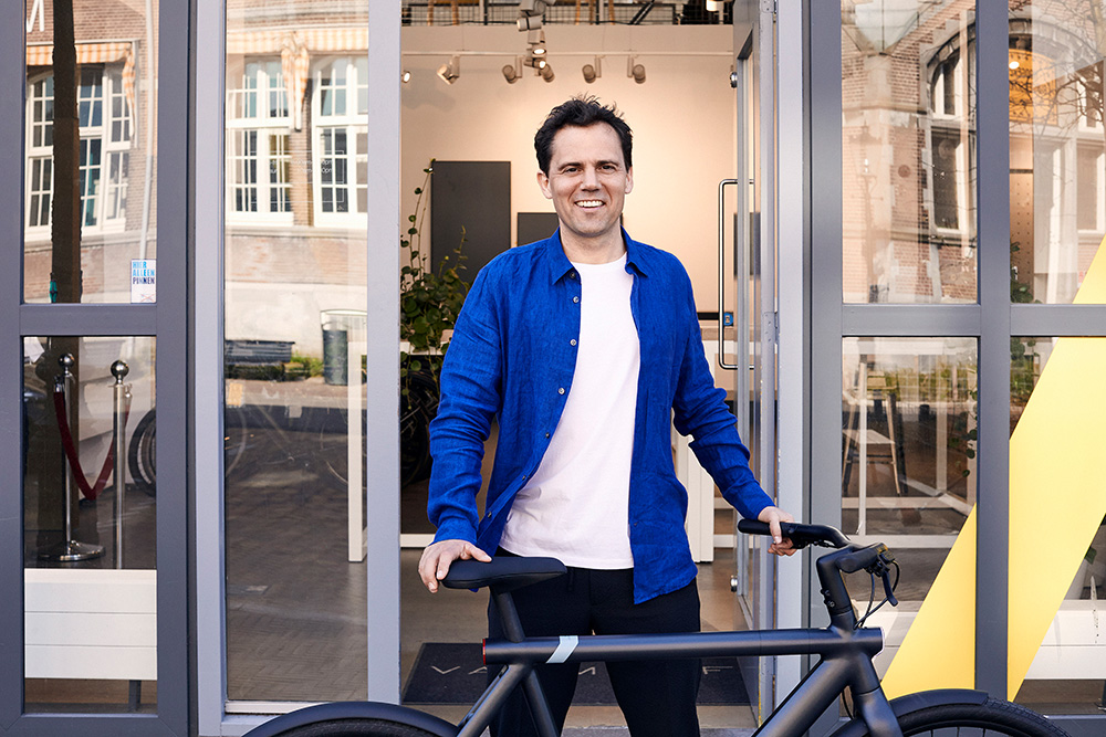 Taco and Ties Carlier founded VanMoof with the vision of designing the perfect city bike