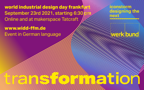 World Industrial Design Day Frankfurt will take place for the third time on September 23