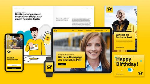 Die Deutsche Post überarbeitet ihr Corporate Design.