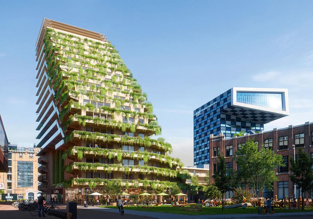 Urbane Holzarchitektur: Sawa in Rotterdam (Niederlande)